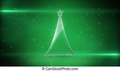 christmas tree and green light loop