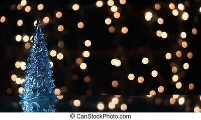 christmas tree and lights loopable background