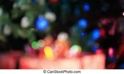 Christmas tree and present