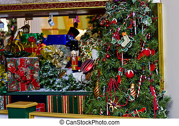 Christmas Tree and Toys at mall