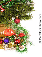Christmas tree and traditional decorations