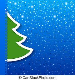 Christmas tree applique vector background.
