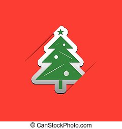 Christmas tree applique greeting card with text vector christmas tree applique m4hsunfo