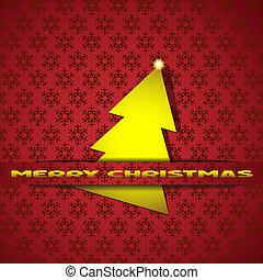 Christmas tree-applique - Golden Christmas tree-applique....