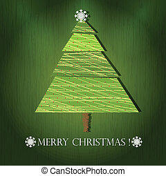 vector tree of christmas background