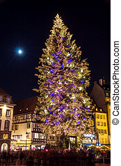 """Christmas tree at Place Kleber in Strasbourg, """"Capital of Christ"""