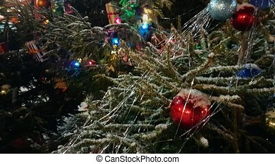 Christmas tree at the outdoor market in old city