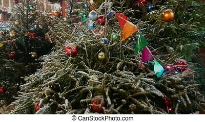 Christmas tree at the outdoor market