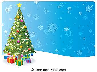 Christmas Tree Background 1