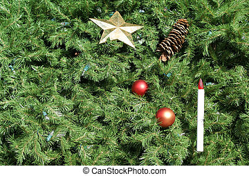 Christmas Tree Background - Christmas tree background with...
