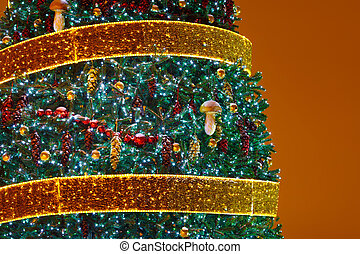 Christmas tree background with copy-space