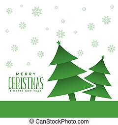 christmas tree background with snowflakes