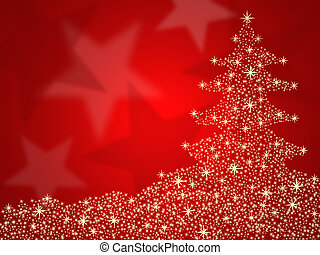 Christmas tree background with star