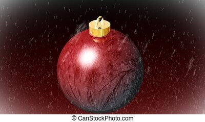Christmas Tree Ball - 3D Animated Ball Background