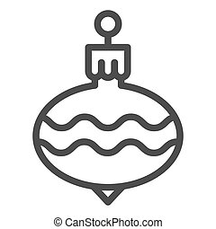Christmas tree ball line icon. Cristmas toy vector illustration isolated on white. Holiday decoration outline style design, designed for web and app. Eps 10.