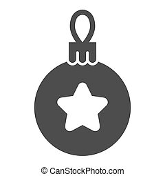 Christmas tree ball solid icon. Tree toy vector illustration isolated on white. Xmas decoration glyph style design, designed for web and app. Eps 10.