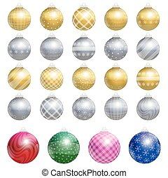 Christmas Tree Balls Gold Silver