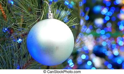 Christmas tree balls lights