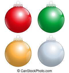 Christmas Tree Balls Red Green Gold
