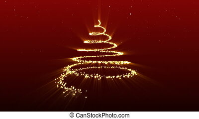 Christmas Tree. Beautiful Abstract Background