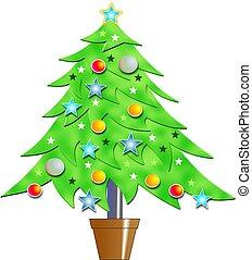 Christmas Tree - Bevelled Christmas tree design.