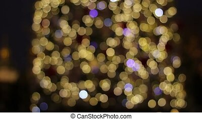 Blurred background of Christmas tree. - Christmas tree....