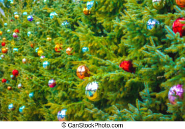 christmas tree blurred background