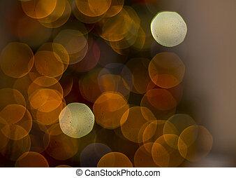 Christmas tree bokeh background