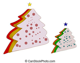 Christmas Tree. Box.