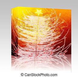 Christmas tree box package