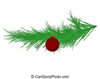 Christmas Tree Branch Illustration - Chrismtas tree branch...