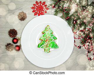 christmas tree cake sweet festive dessert food