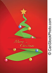Christmas tree card pocket folder