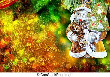 Christmas tree. Christmas toy. Santa Claus.