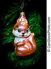 Christmas tree Christmas toy squirrel