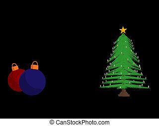 Christmas Tree - Christmas tree on a black background