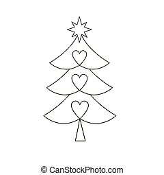 Christmas tree. Christmas tree vector icon.