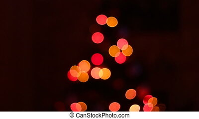 Christmas tree colorful bokeh
