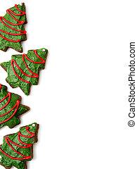 Christmas tree cookies background
