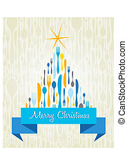 Christmas Tree Cutlery card