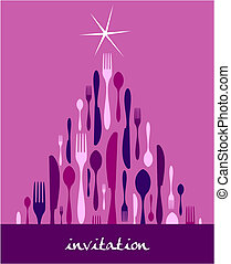 Christmas Tree Cutlery Design