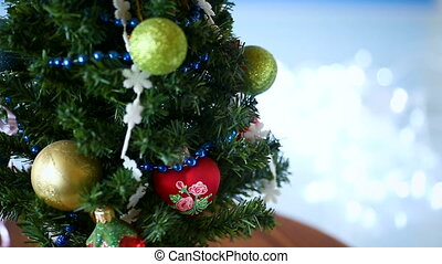 Christmas tree decorated with balls