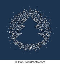 Christmas tree decoration - Vector illustration of a...
