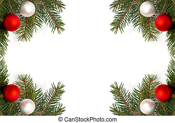 Christmas tree decoration - Green spruce branches with...