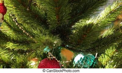 Christmas tree decoration in closeup