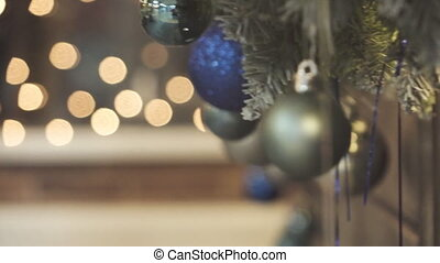 Christmas tree decoration in closeup
