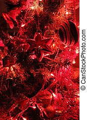 Christmas tree decoration in red