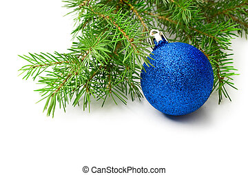 Christmas tree decoration isolated on white