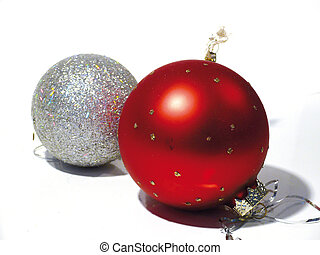 Christmas-tree decoration on a white background. Christmas. New Year.