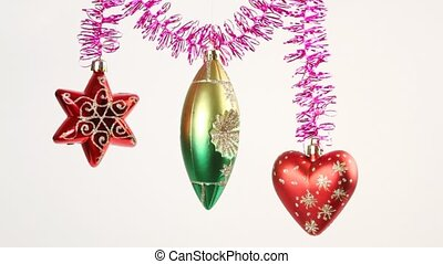 Christmas-tree decoration swing on tinsel - Christmas-tree...